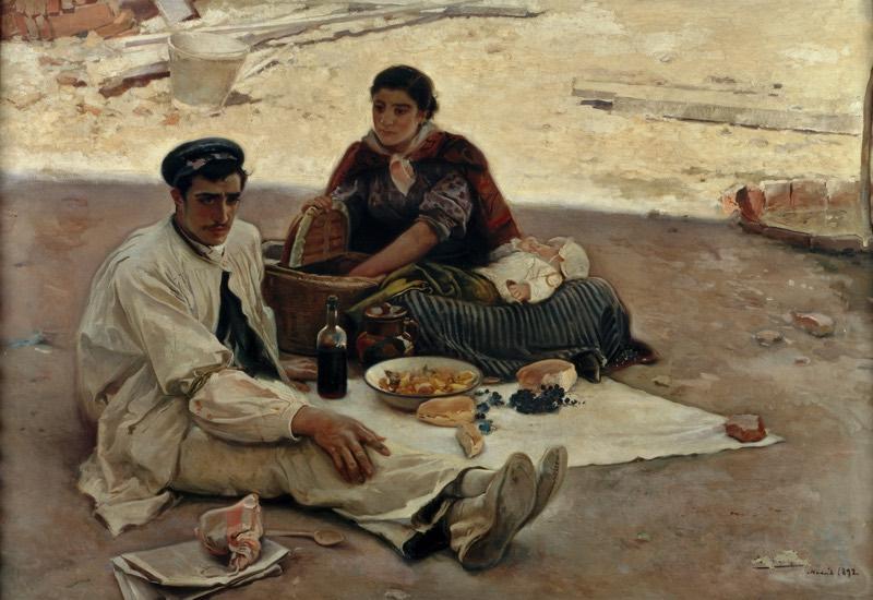 """""""Las doce"""" (1892), de Cecilio Plá y Gallardo"""