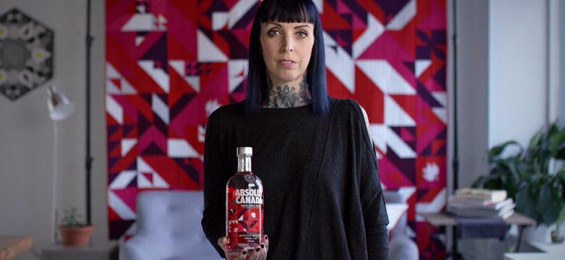 Absolut celebra el 150 aniversario de Canadá con nueva botella de Elizabeth Elliott