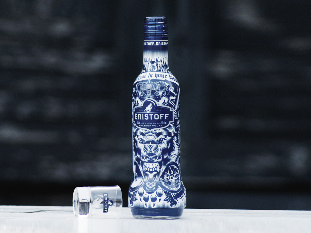 Bacardi presenta su limitado packaging 'Eristoff Wolf Pack Edition'