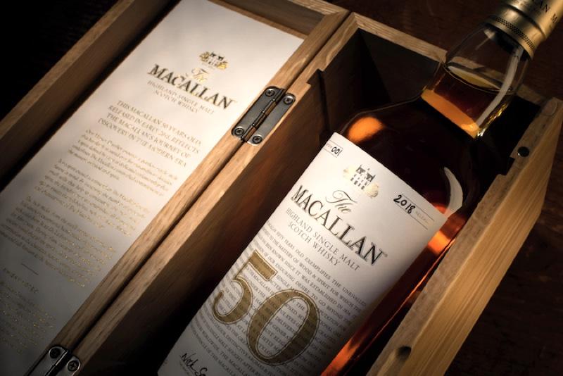 The Macallan da a conocer un whisky de 50 años que cuesta 25.000 libras