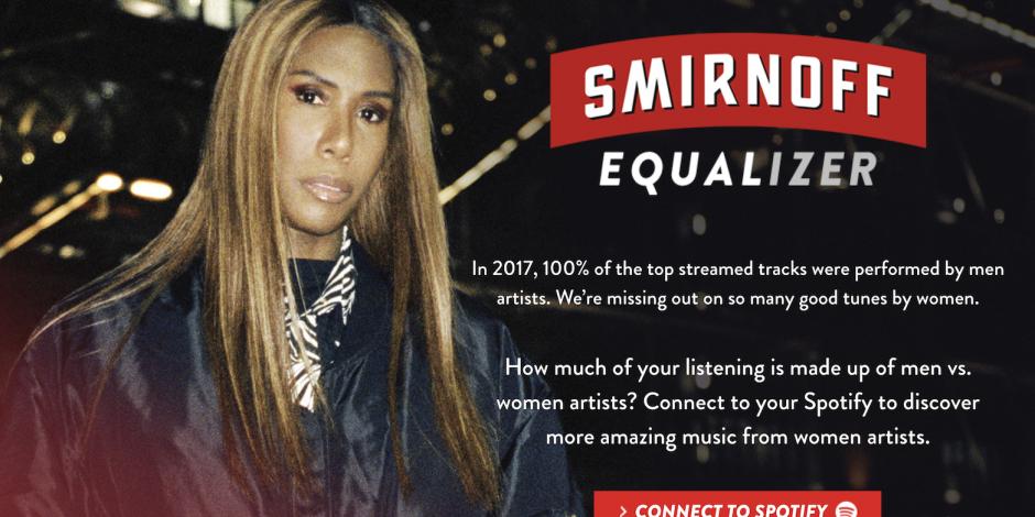 Smirnoff y Spotify promueven la igualdad de las mujeres en la música