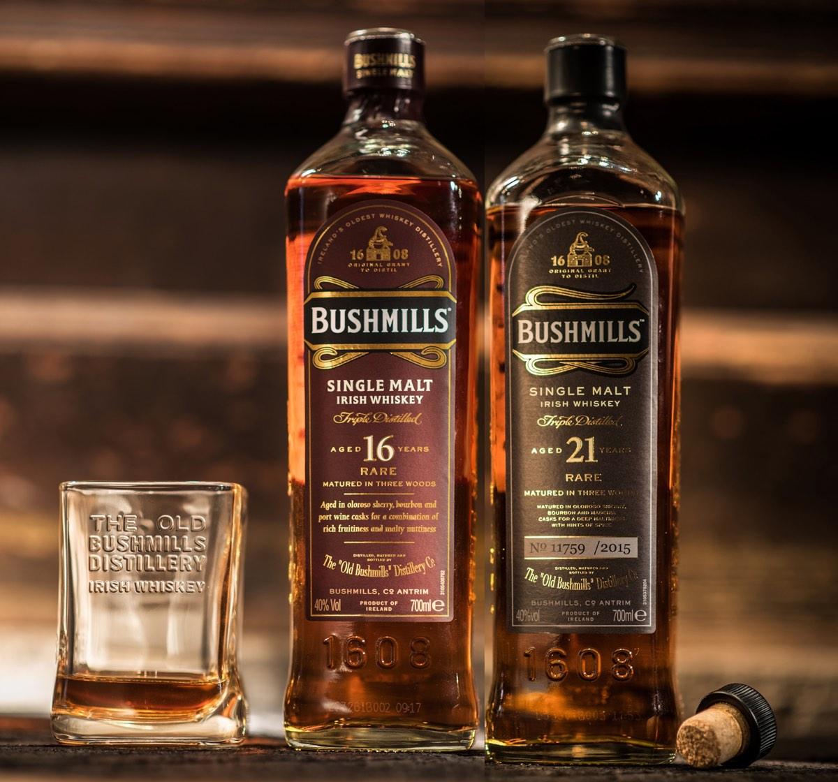 Bushmills presenta sus whiskeys de 16 y 21 años
