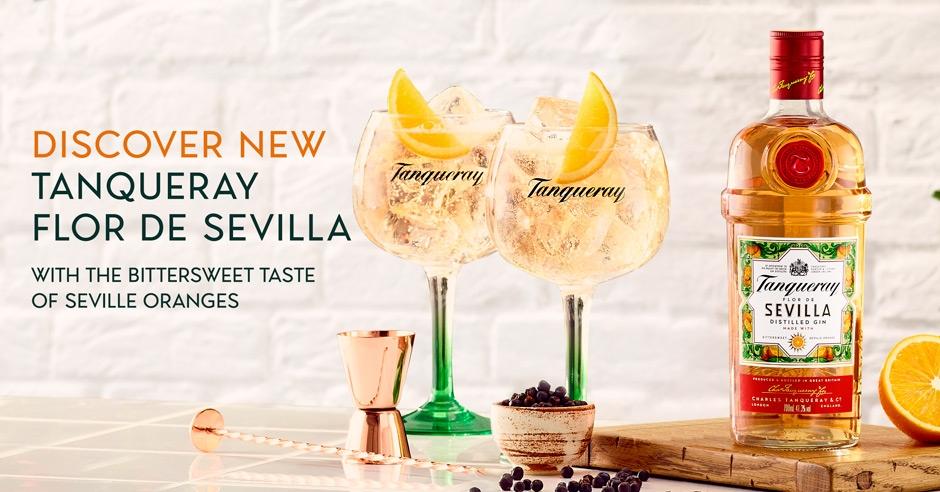 Diageo amplía su gama de ginebras con 'Tanqueray Flor de Sevilla'