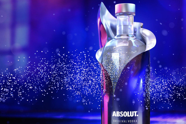 Absolut lanza Uncover, diseño de botellas con lentejuelas en GTR