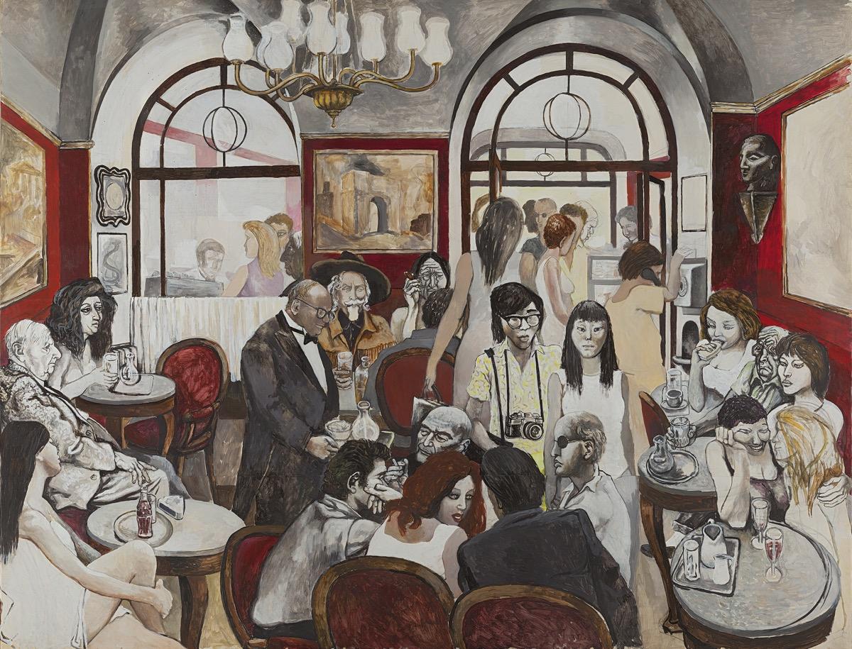 """""""Caffè Greco"""" (1976), de Renato Guttuso"""