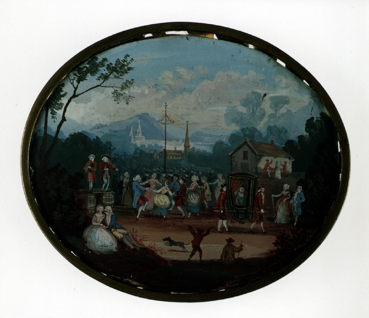 """Fiesta al aire libre"" (1780), de Edmé Charles de Lioux de Savignac"