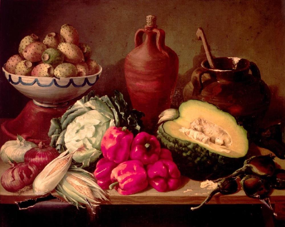 """""""Bodegón de hortalizas e higos chumbos"""" (1867), de Julián Sanz del Valle"""