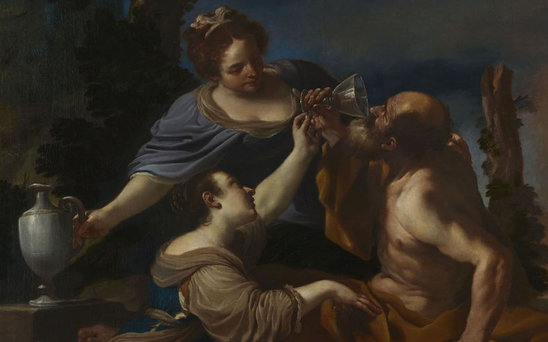 """Lot y sus hijas"" (1617), de Giovanni Francesco Barbieri, Guercino"