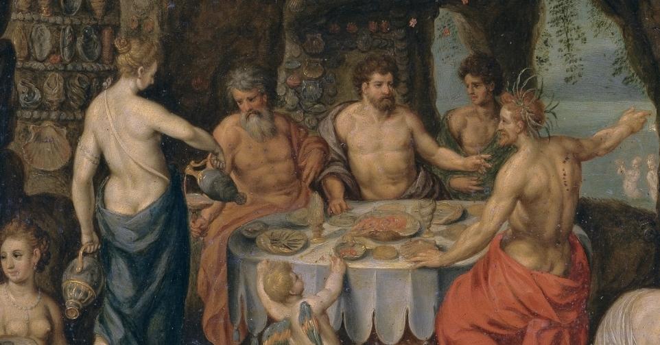"""""""Banquete de Aqueloo"""" (hacia 1610), de Hendrik de Clerk"""