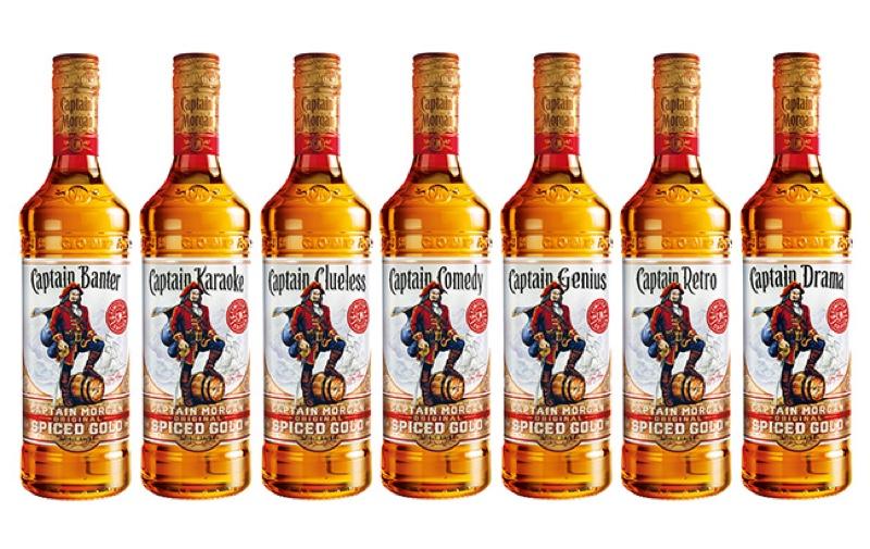Diageo lanza ediciones limitadas de las botellas Captain Morgan con nuevos amigos