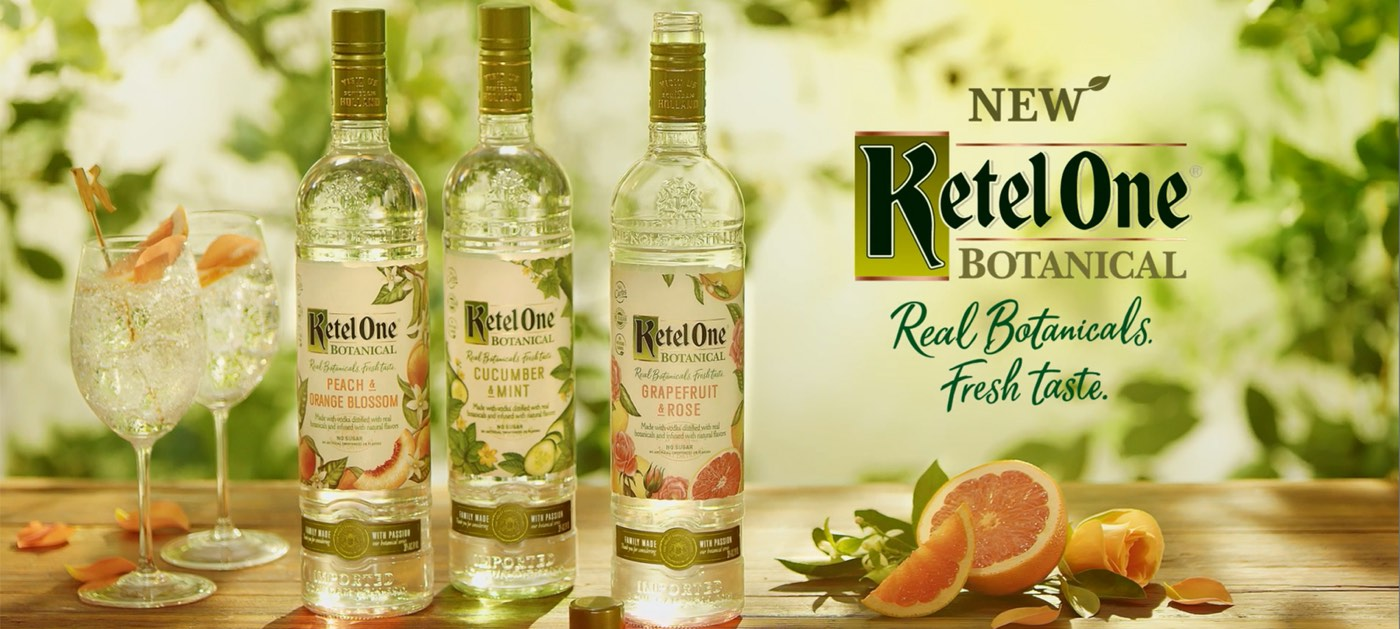 Ketel One presenta Botanical, gama botánica de bajo volumen alcohólico