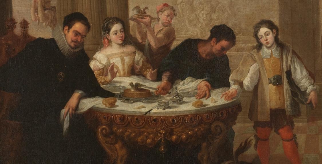"""""""El rico epulón y el pobre Lázaro"""" (Siglo XVII), de Juan de Sevilla y Romero"""