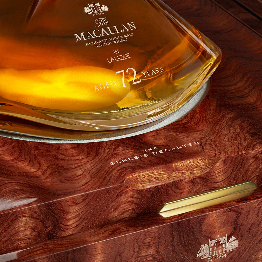 Macallan presenta The Macallan 72 Years Old in Lalique – The Genesis Decanter, un whisky de 72 años a un precio de 60 mil dólares