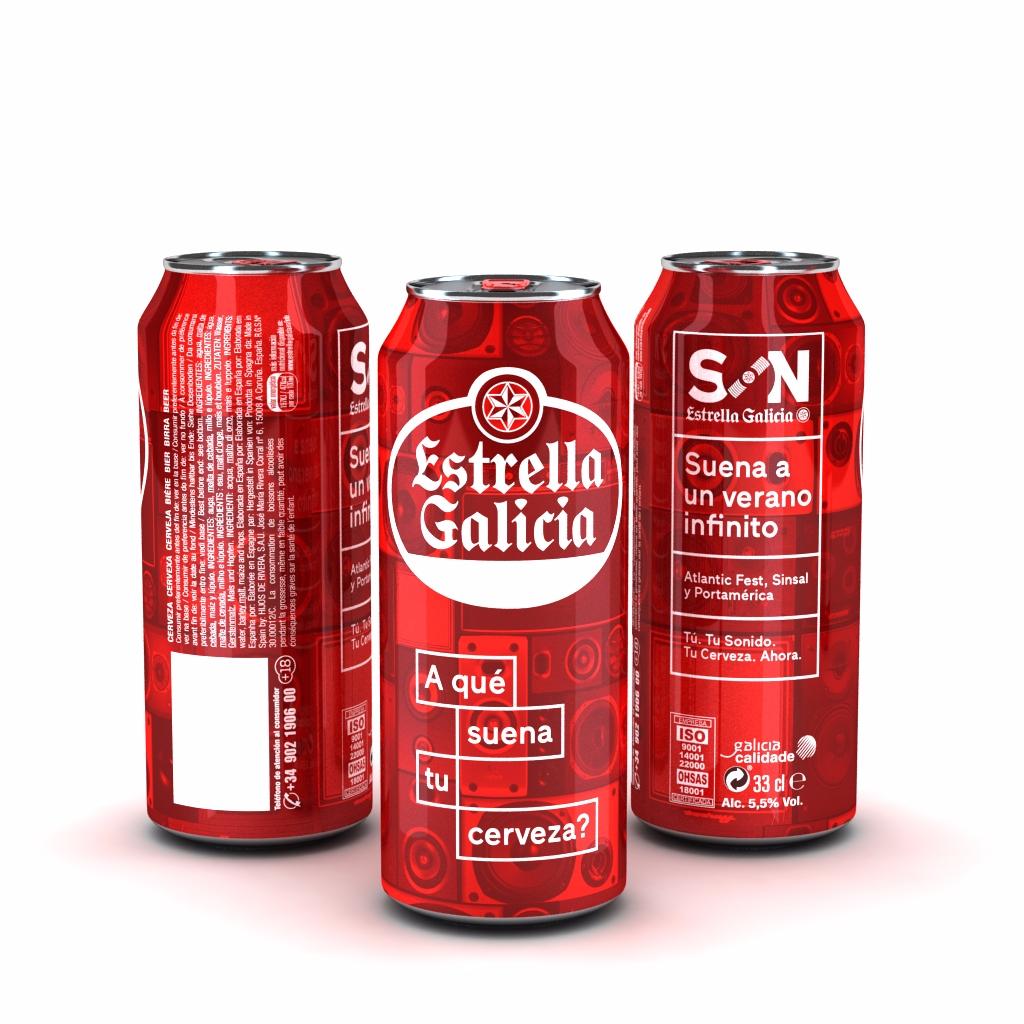 """'Estrella Galicia' lanza una edición que rinde homenaje a la música con """"¿A qué suena tu cerveza?"""""""