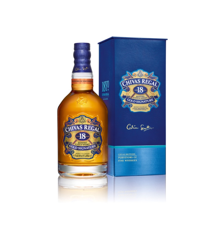 Chivas Regal 18 revela rediseño de packaging