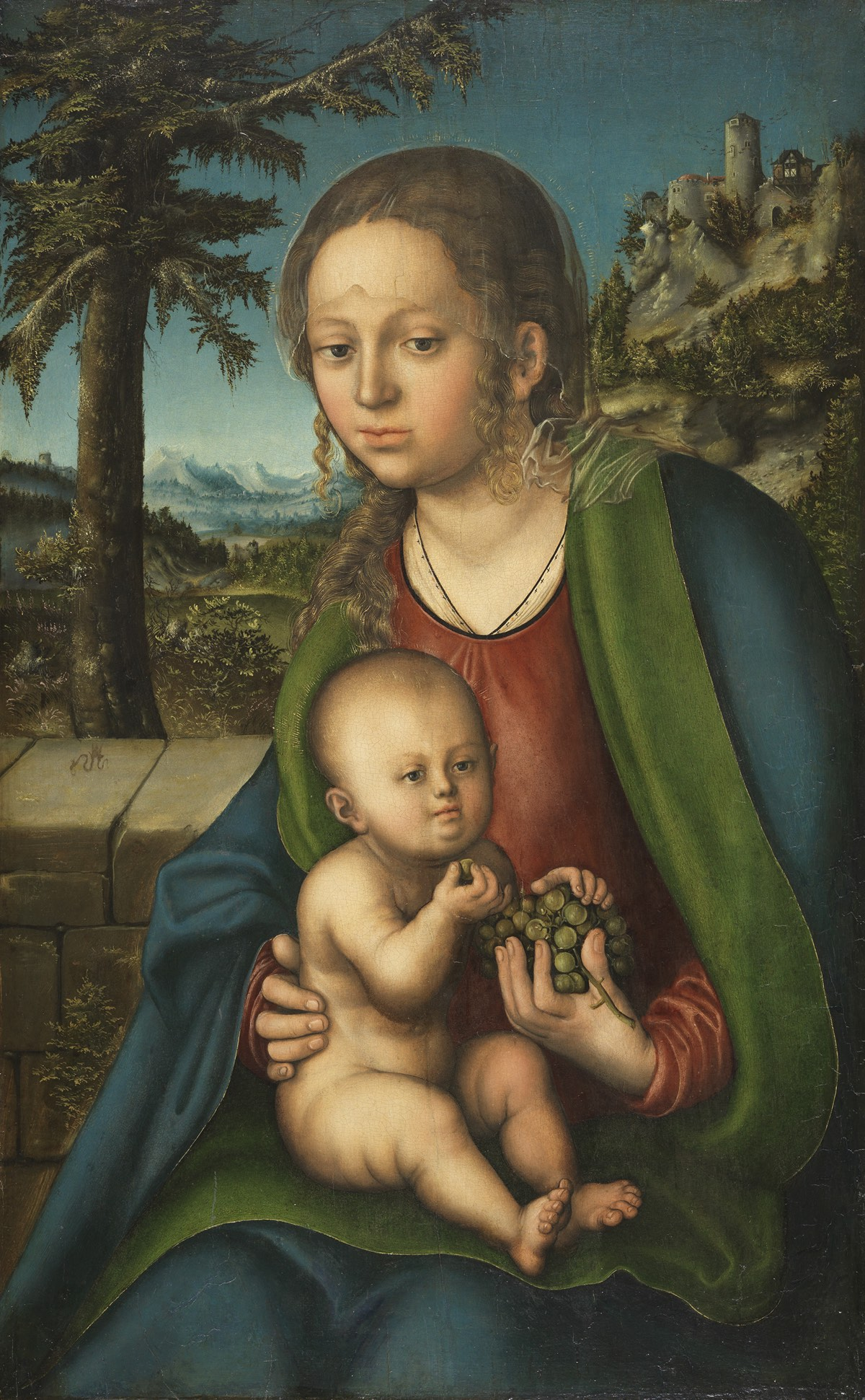 CRANACH, Lucas el Viejo_La Virgen y el Niño con un racimo de uvas_114 (1936.1)