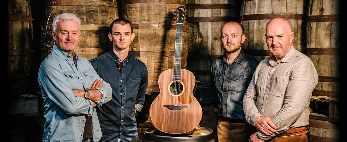 Bushmills usa cobre y madera de sus whiskies para crear Bushmills x Lowden Black Bush, una guitarra acústica