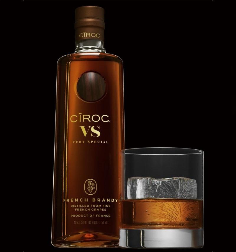 Botella de Ciroc Vs Brandy