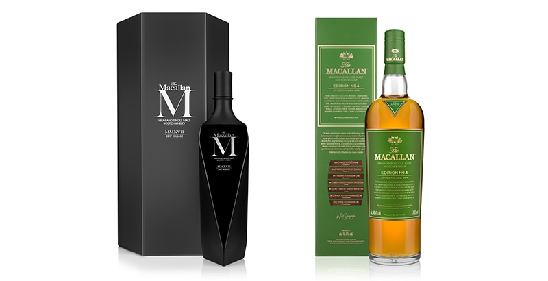 The Macallan presenta dos nuevos whiskies: M Black 2017 y Edition No. 4