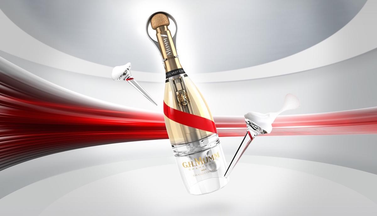 Champagne Mumm inaugurará Grand Cordon Stellar, botella y copas adaptadas para su consumo en condiciones de gravedad cero