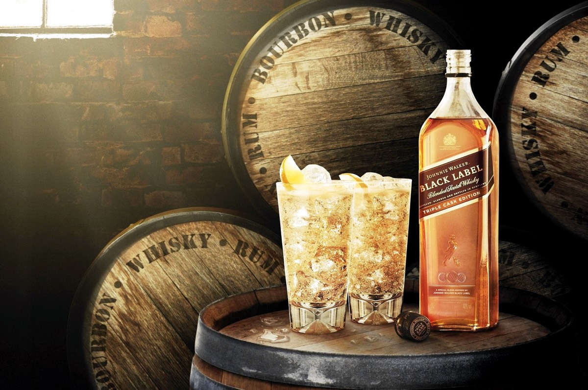 Johnnie Walker lanza Johnnie Walker Black Label Triple Cask Edition en travel retail
