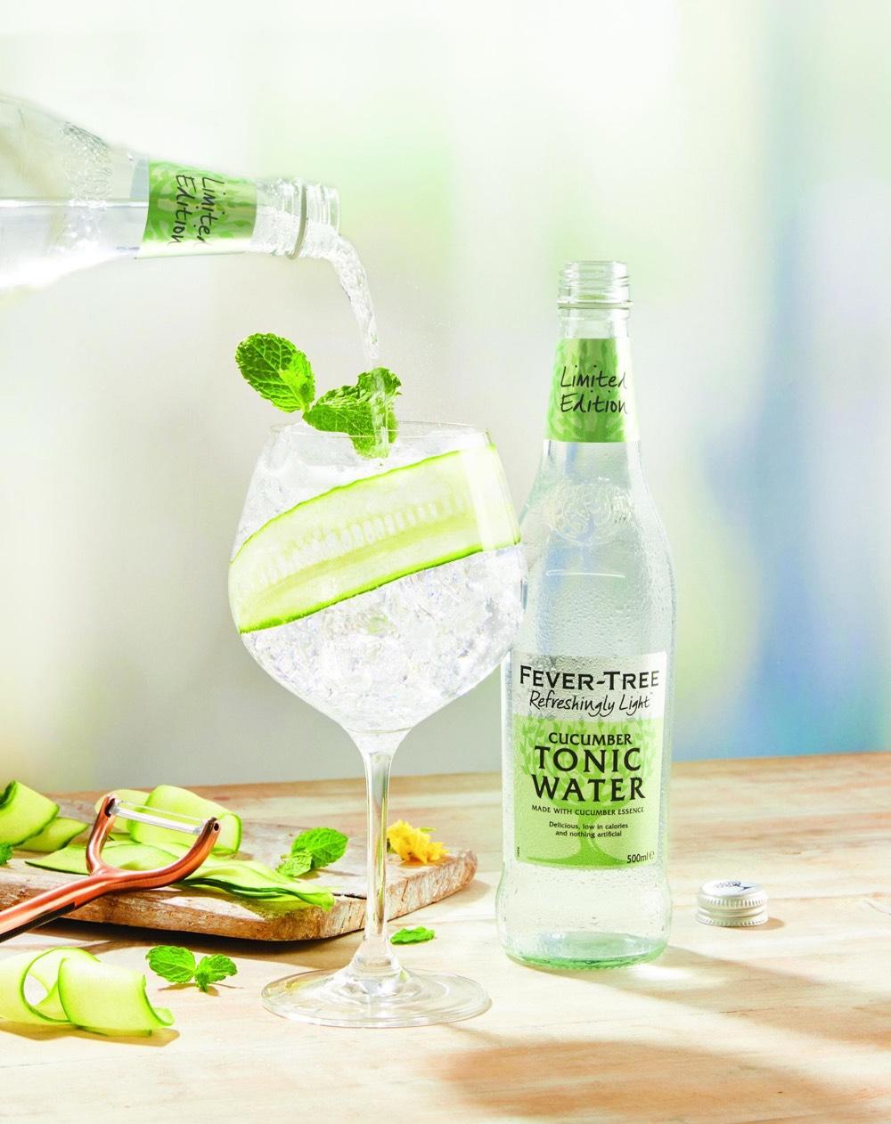Fever-Tree lanza Refreshingly Light Cucumber Tonic, una nueva tónica con sabor a pepino