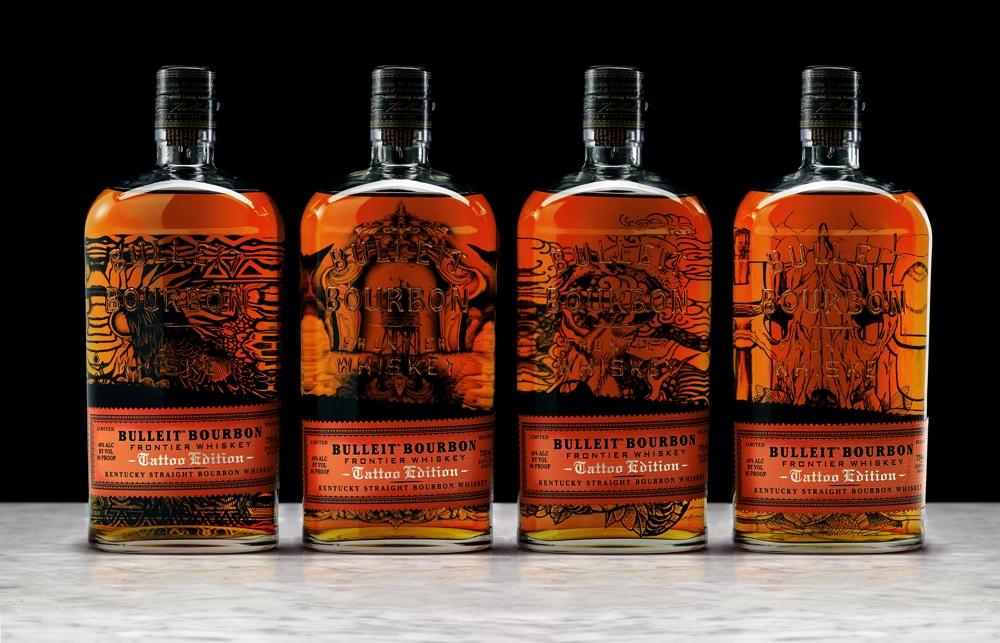 Todas las botellas de Bulleit Bourbon Tattoo Edition