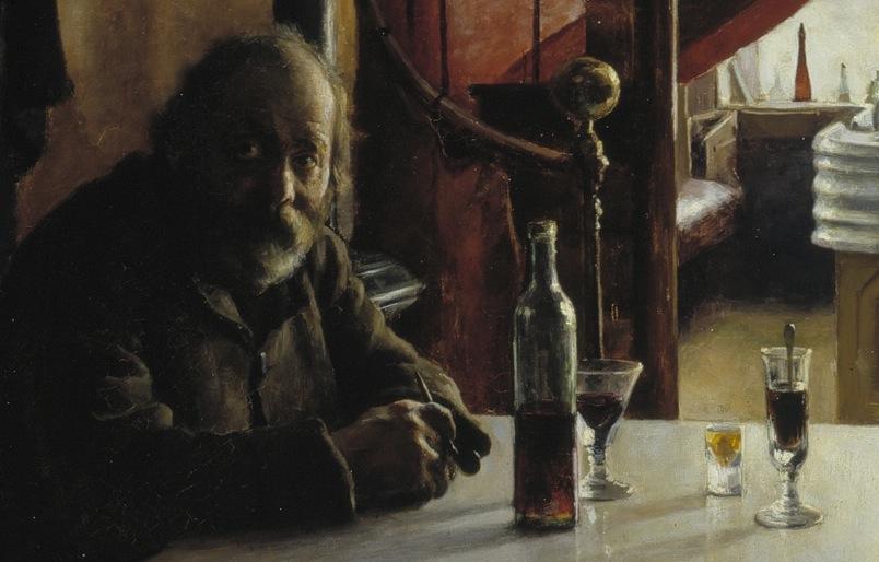 """""""Bar de vinos francés"""" (1888), de Eero Järnefelt"""