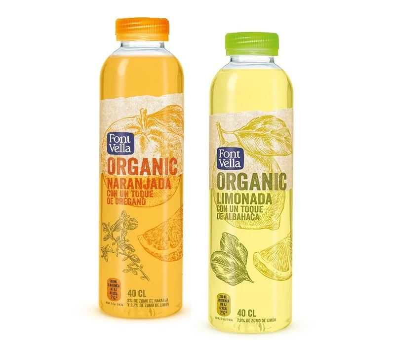 Font Vella apuesta por las bebidas ecológicas con 'Font Vella Organic', agua mineral natural y zumo de frutas