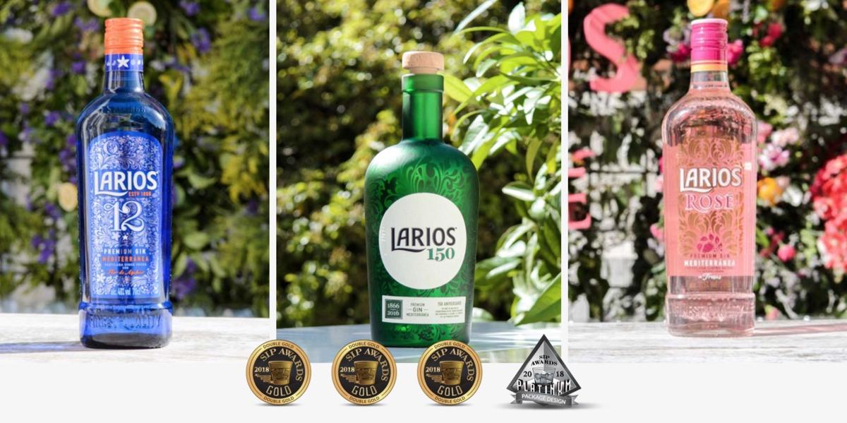 Larios 12, Larios 150 Aniversario y Larios Rosé, reconocidas con tres Double Gold en SIP Awards