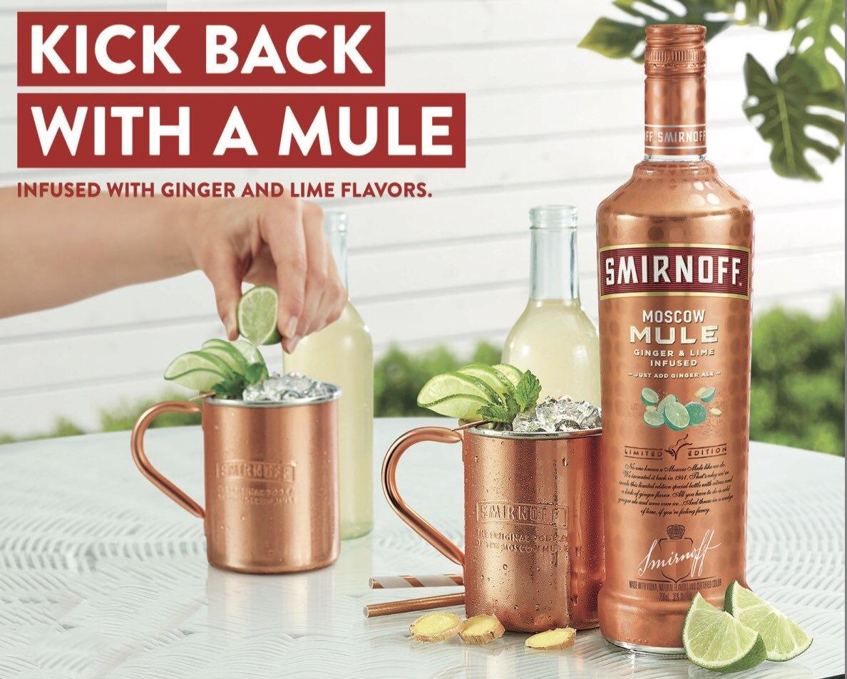 Smirnoff lanza su nuevo sabor Moscow Mule