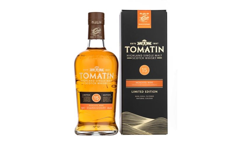Tomatin lanza un whisky de 15 años con acabado Moscatel