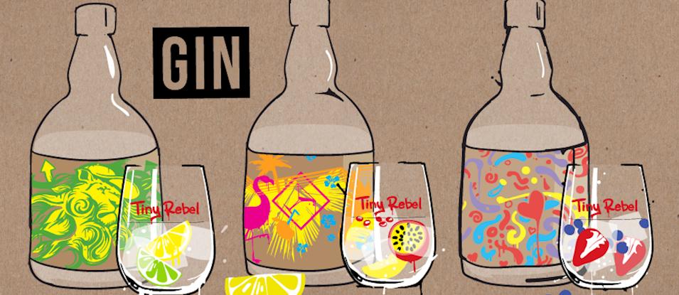 Tiny Rebel Brewing lanza un trío de ginebras de edición muy limitada