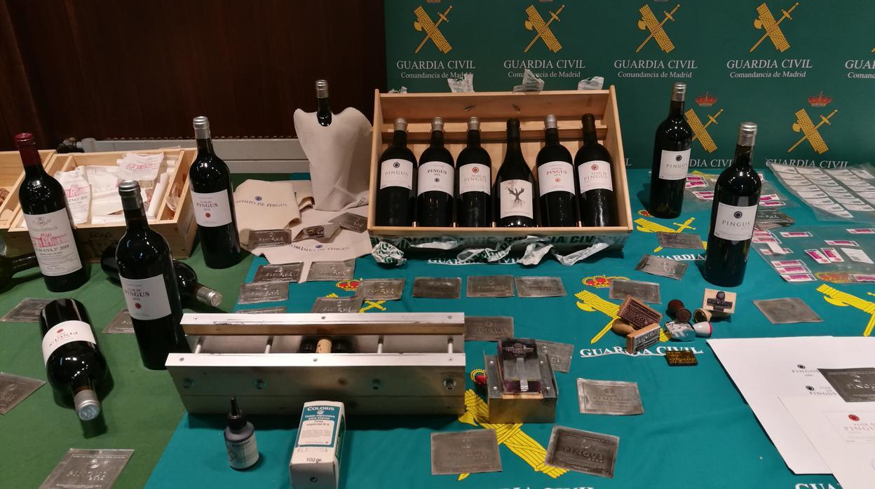 """Desmantelada una organización que vendía vinos falsificados en el marco de la operación """"Tag"""""""