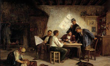 """""""Un juego de piquet"""" (1869), de Adolf von Becker"""