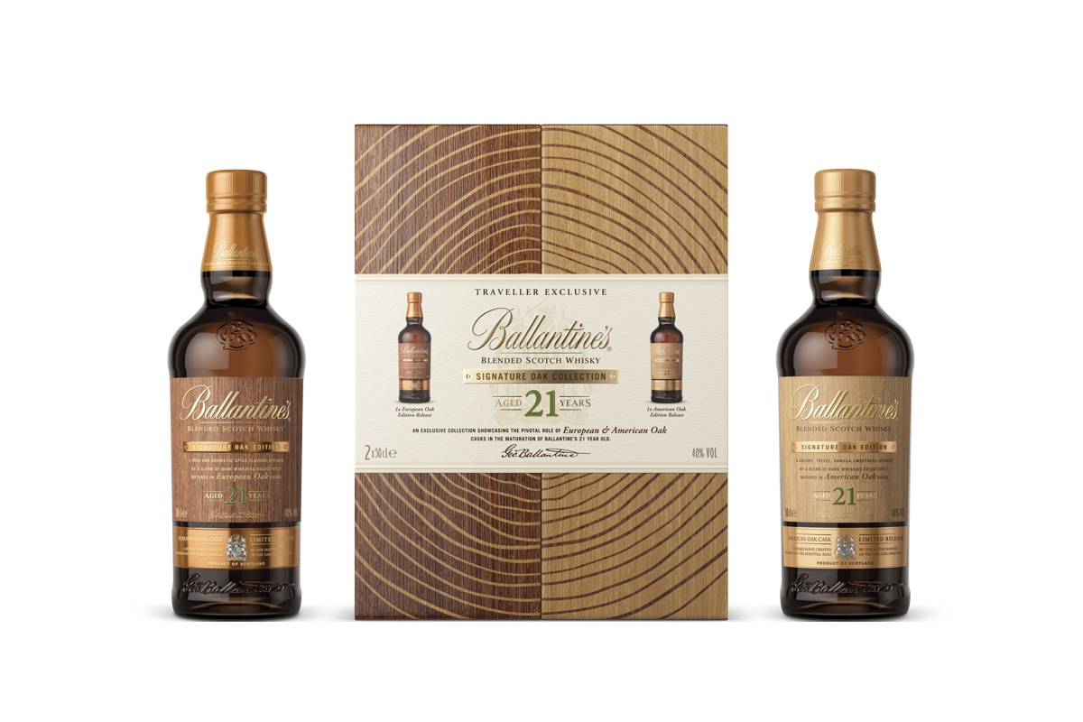 Ballantine's has released a collection of 21-year-old whiskies