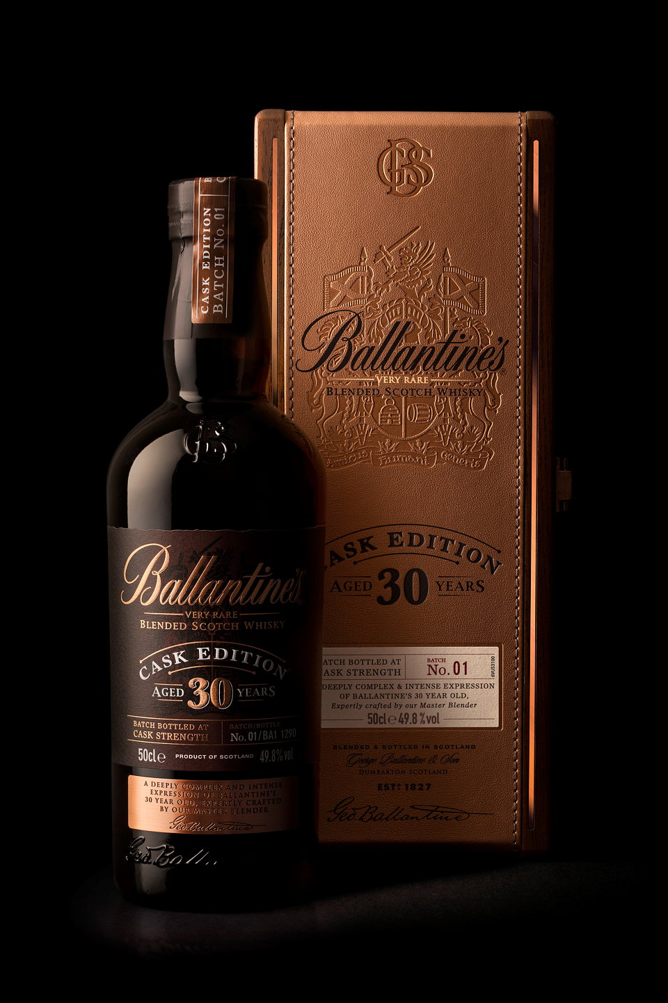 Ballantine's 30 Year Old Cask Edition is a blend of Ballantine's rarest whiskies