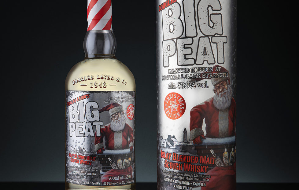 Douglas Laing presenta el packaging de Big Peat Christmas 2018