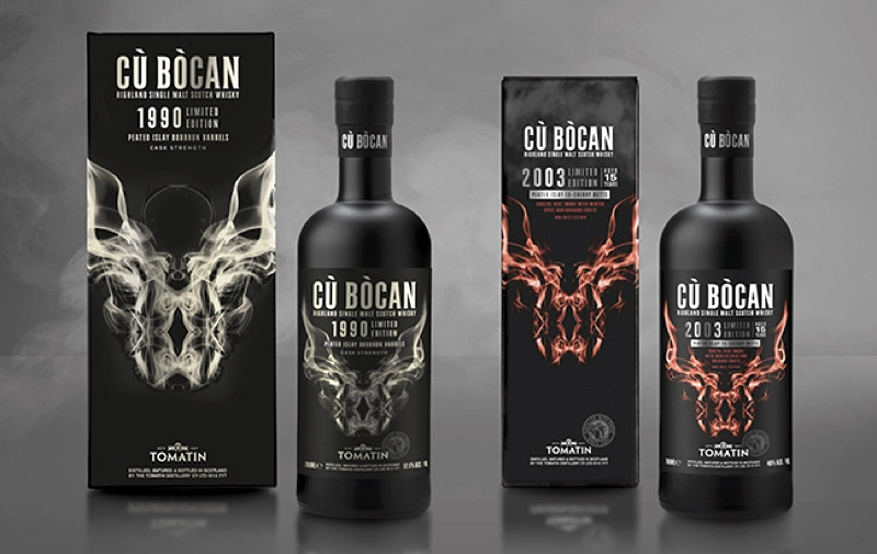 Highland distillery Tomatin has added two limited edition single malt vintages to its Cù Bòcan Scotch whisky range