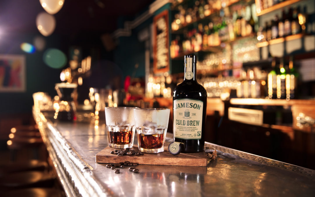 Jameson Cold Brew combines Jameson with 100% Fairtrade Arabica beans from Colombia and Brazil