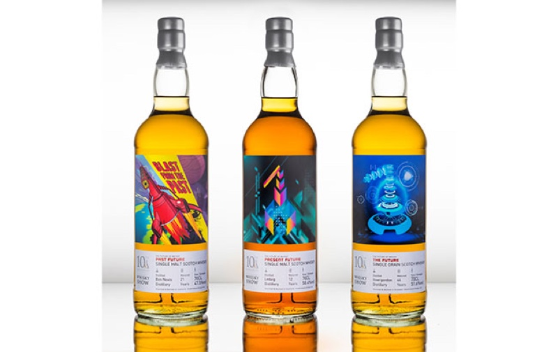 The Whisky Exchange has launched a trio of whiskies with futuristic labels