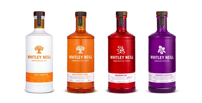 The new taller and slimmer bottle will roll out across Whitley Neill's range of spirits