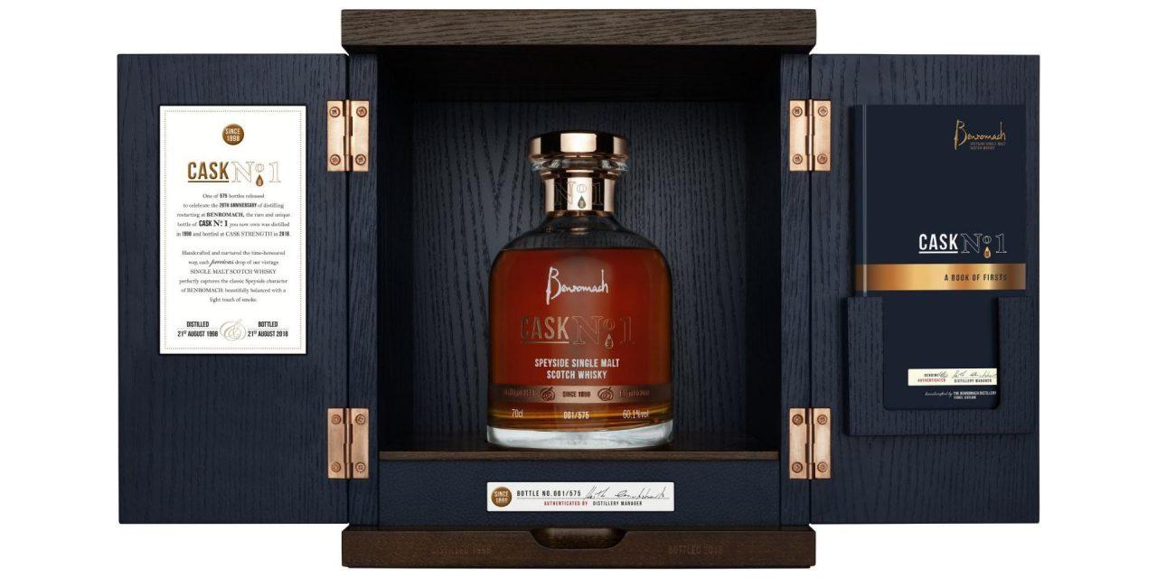 Benromach celebra sus 20 años con un whisky benéfico, Benromach Cask No 1