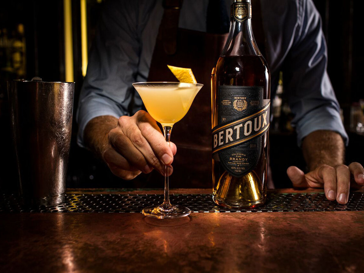 Bertoux Brandy is best served in a Sidecar