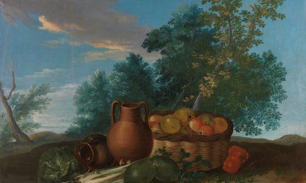 """""""Bodegón de frutas y verduras"""" (Siglo XVIII), de Ginés Andrés de Aguirre"""