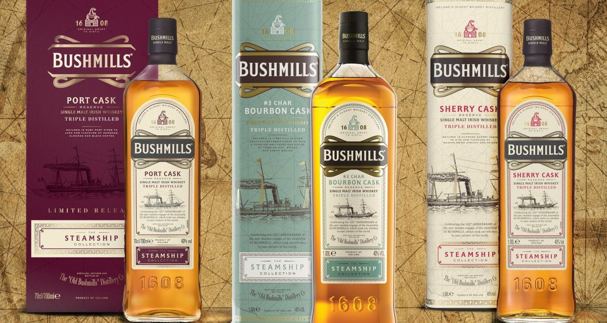 Bushmills Irish whiskey presenta las primeras exclusivas de TR con The Steamship Collection