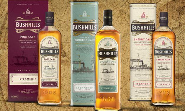 Bushmills Irish whiskey presenta las primeras exclusivas de TR con The Steamship Collection