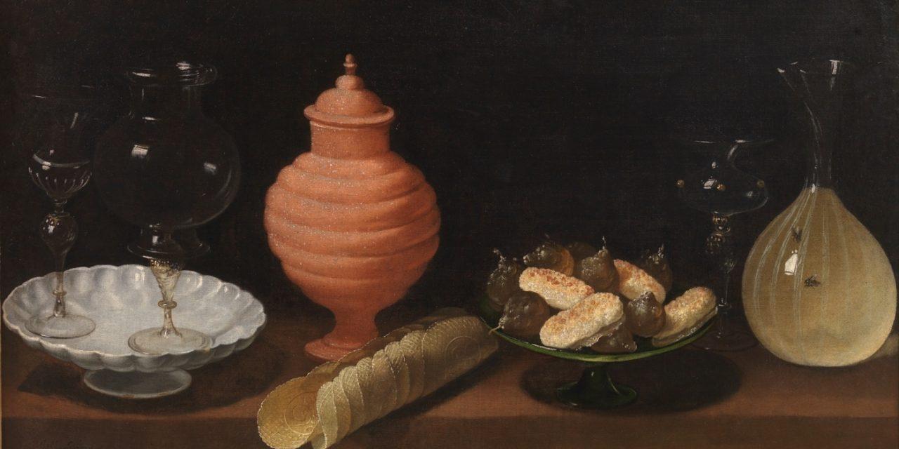 """""""Bodegón con dulces y recipientes de cristal"""" (1622), de Juan van der Hamen y León"""