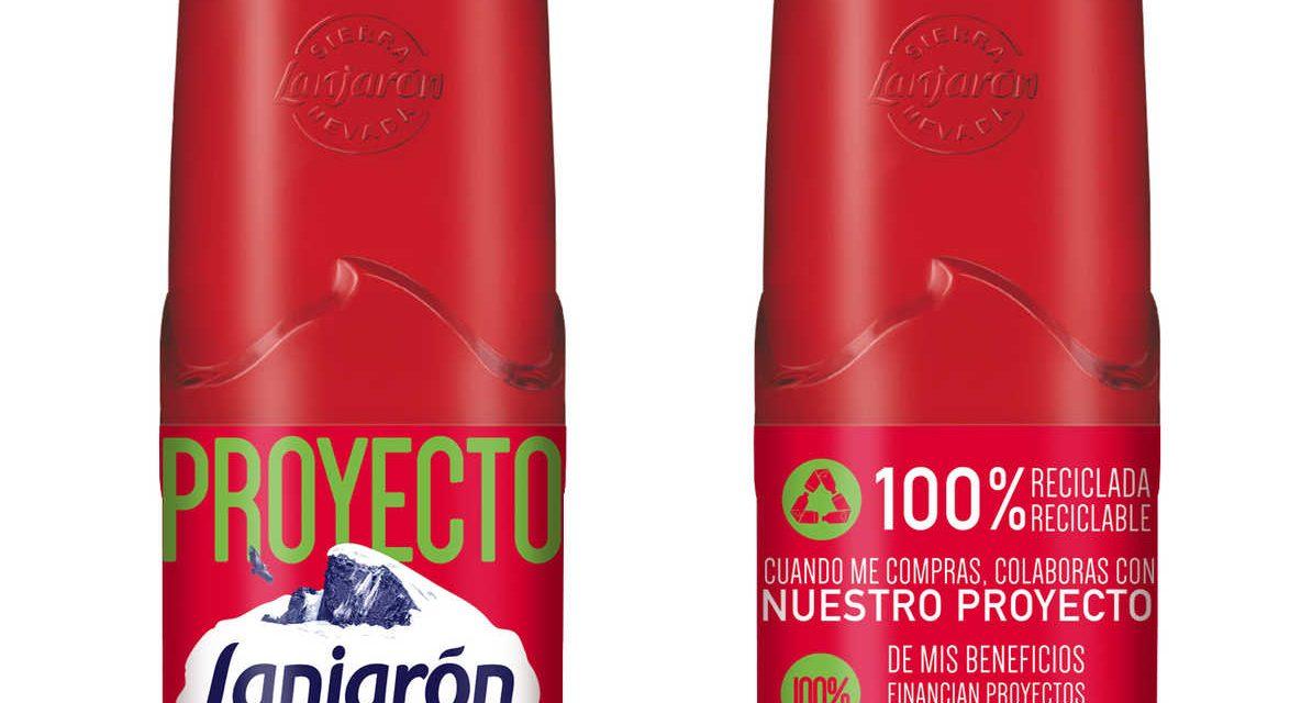 Aguas Danone lanza primera botella 'Lanjarón' con 100% de plástico reciclado