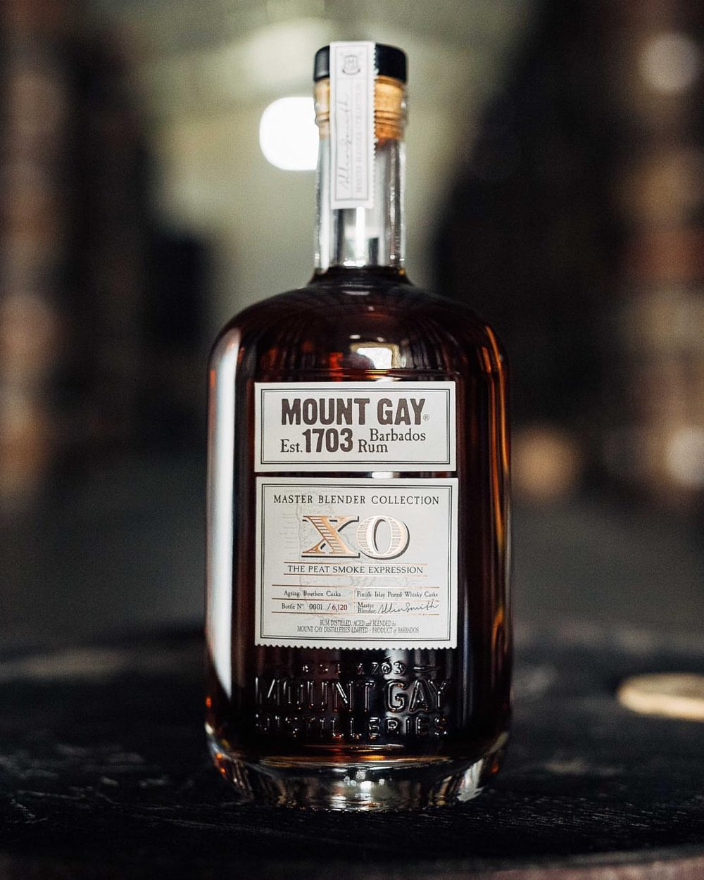 Mount Gay XO The Peat Smoke Expression is the first release in the Master Blender Collection